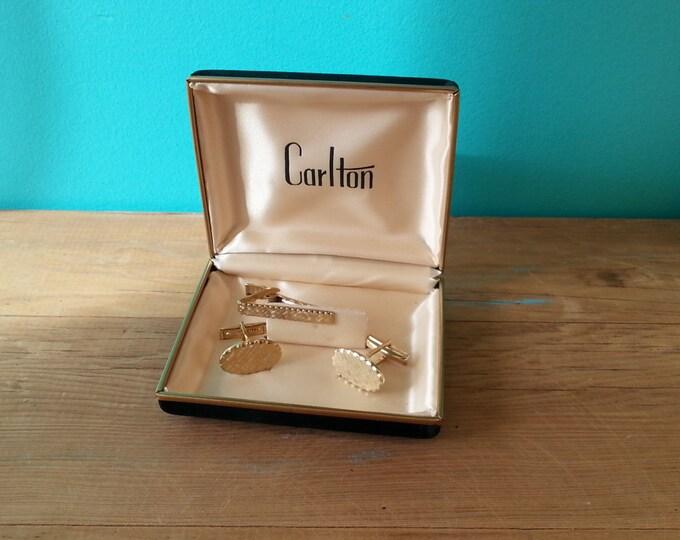 Carlton Gold Plated Cufflinks Set