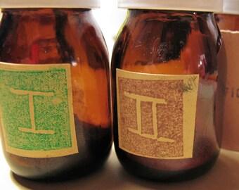 Cyanotype Kit - powder form - amber glass bottles