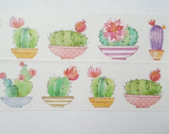 Design Washi tape Cactus Cactus pot