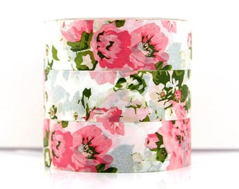 Washi tape pink flowers