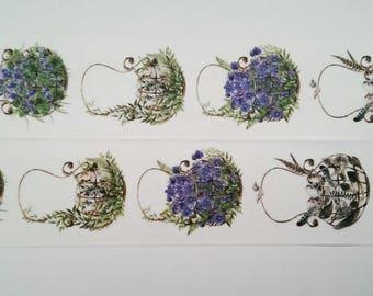 Design Washi tape garden basket flowers