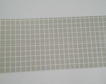 Washi checkered grey wide tape