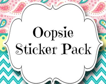 Oopsie Sticker Packs