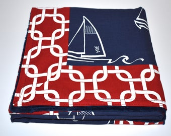 Sail Boats- nautical blanket