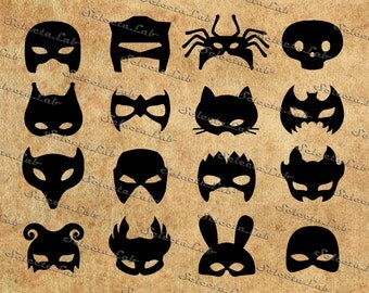 Digital SVG PNG mask, venetian mask, theater mask, carnival mask, costume party  clipart, vector, silhouette, instant download