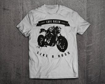 Cafe Racer motorcycle t shirts, rider shirts, bike life t shirts, like a boss shirts motorcycle shirts cafe shirts fun tshirts by Motomotive