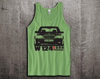 Mercedes Tank Top, Benz W124 shirts, classic cars shirts, cars tanks, Mercedes shirts, mercedes tank tops, Unisex E class benz tank tops