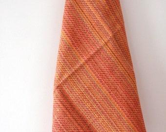 Tea towel. Hand-woven in warm colours. Linen-cotton