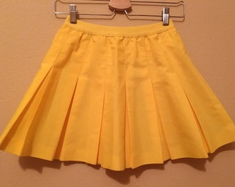 80s Lilly's of Beverly Hills Beight Yellow Tennis Skirt