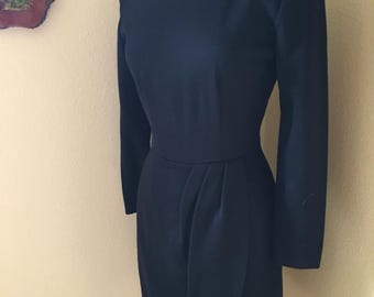 Late 70s My Michelle Long-Sleeved LBD