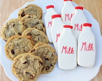 Milk and Cookies for Santa // Sugar Cookies and Chocolate Chip Cookies for Santa