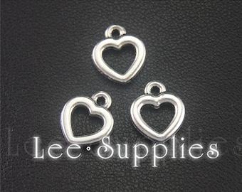 30pcs Antique Silver Heart Charms Pendant A1994