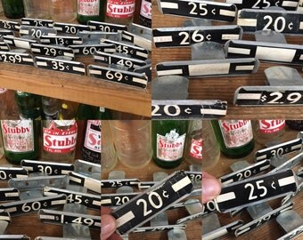 Lot of vintage shelf price tag clips and inserts
