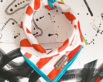 BRUSHSTROKE Dog Bandana: follow your dogs lead in this Mod Artsy Print Sizes Xs, s, m, l, xl