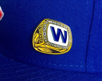 World Series Ring pin - Hat Pin - Cubs pin - Cubs hat pin - Chicago pin - W Flag - Chicago Cubs pin - lapel pin