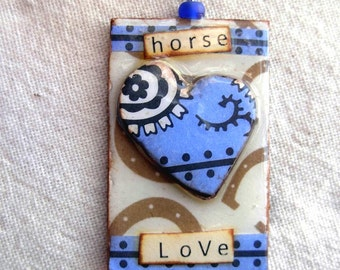 Horse Love....Necklace....Cute Cowgirl|Rustic|Horse|Equine Jewelry