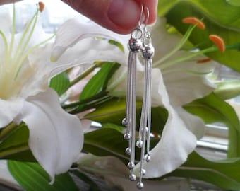 925  Silver Earrings -   Earrings - Long Silver Earrings