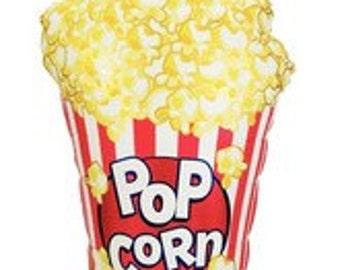 "Huge 38"" Popcorn balloon. Popcorn boxes. Carnival balloons. Carnival party. popcorn lover balloon. popcorn party. circus balloons. circus"