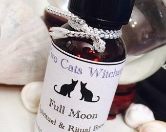 Full Moon Oil, Moon Spell Oil, Full Moon Magick, Moon Ritual Oil, Lunar Oil, Lunar Magick, Moon Alter Oils, Pagan Moon Ritual, Moon Goddess