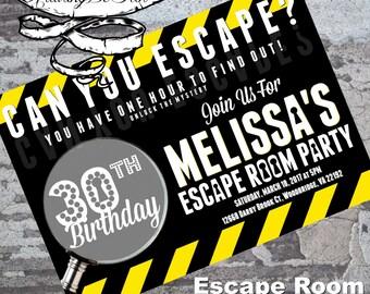Escape Room Party Invitation
