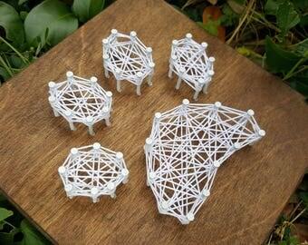 Mini Paw Print String Art Made to Order Home Decor