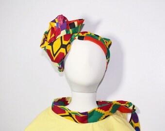 African girl's poncho Girl poncho Flannel poncho Kente poncho