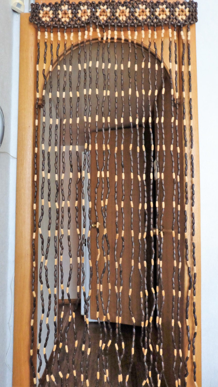 vintage wood curtain door beads beaded curtains beaded door. Black Bedroom Furniture Sets. Home Design Ideas