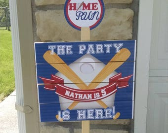 Baseball Birthday Yard Sign