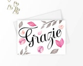 Grazie note cards, Thank you cards wedding, Stationery set, Stationary set, Italian gifts, Greeting card set