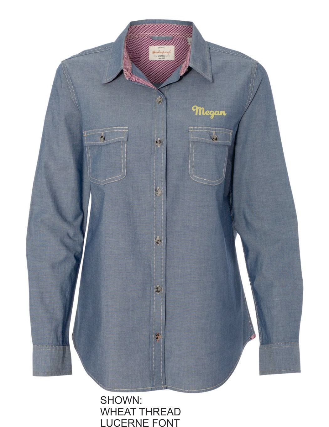 Personalized ladies name dress shirt button down