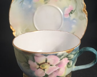 Hand Painted Antique Haviland Limoges Teacup