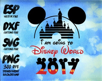 i am going to Disney World 2016 Mickey Clipart , SVG Cutting , ESP Vectors files , T shirt , iron on , sticker ,Personal Use