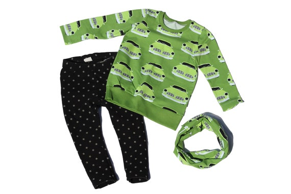 Green Machine Organic Cotton Long SleeveWaistband Tee / Sweater / Sweatshirt