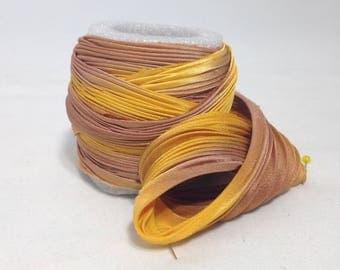 Silk ribbon Shibori N 91  Free delivery from  50 dollar...