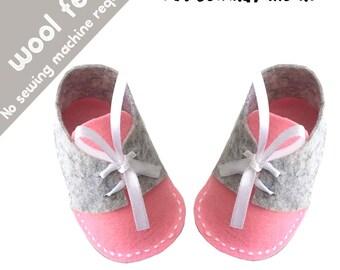SALE Felt Baby shoes Pattern - pdf Felt Pattern - pdf Tutorial - Felt shoes pdf Tutorial - Felt Tutorial - Felt baby Pattern - wool felt