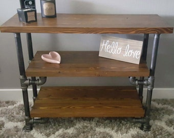 Beautifully Handcrafted Industrial Pipe Entertainment Stand, Ancon Edition Jr.