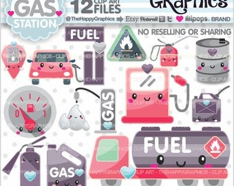 Gas Clipart, Gas Graphic, COMMERCIAL USE, Gas Station Clipart, Planner Accessories, Gas Pump Graphics, Gas Icons, Petrol
