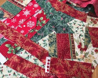 Christmas Fabric Scrap Bag, Fabric Grab Bag, Quilting Fabric, Quilting Fabric Scraps, Quilting Materials, Cotton Fabrics, Quilting Scraps