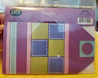 Simple Sweet 8 Panel Tag Accordion Book / Meadow Item #SSTAB-03 / All My Memories