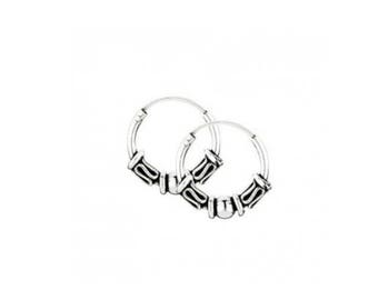 925 Sterling Silver Hoop - Earrings