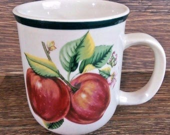 Casuals By China Pearl Coffee Tea Mug Apples Pattern