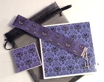 Teacher Gift Book giftset Disney Haunted Mansion Bookmark Coaster