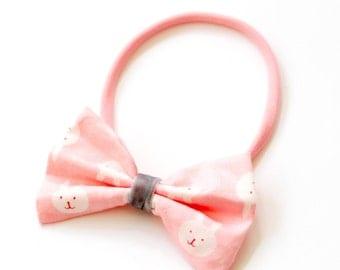 "Bow hair band all sizes ""bunnies"""