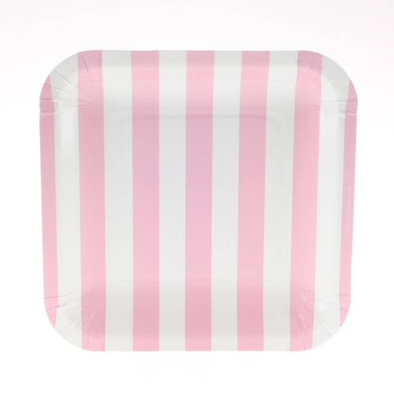 Il_570xn  sc 1 st  Catch My Party & Plates | Pink Candy Stripe Party Plates 7.25