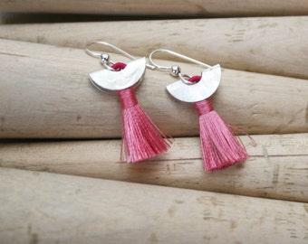 Silk & Sterling Tassel Earrings
