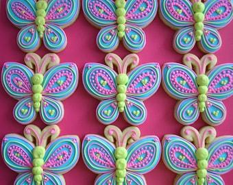 One Dozen Butterfly Sugar Cookies