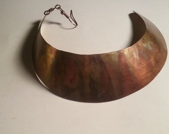 Large Sickle Copper Earrings