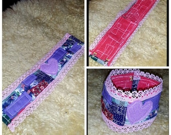 Quilted Patchwork Cuff Bracelet