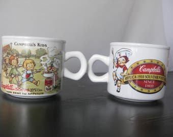 1994 Campbell's Soup Kids Mug / Campbell's Kids 1910 Replica Postcard Soup Mug / Vintage Campbell's Soup Mug / Campbell's Soup Collectible