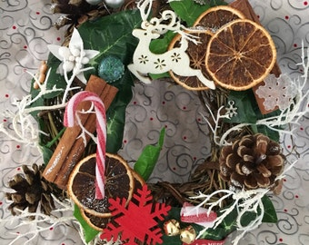 Christmas dreams - Hand Crafted Christmas Wreath - 20cm